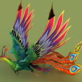 Animal Rainbow Phoenix Rigged