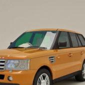 Yellow Range Rover Sport Car