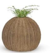 Rattan Pot Plant Decoration