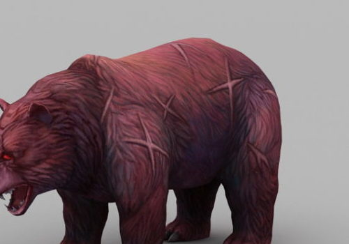 Realistic Red Bear