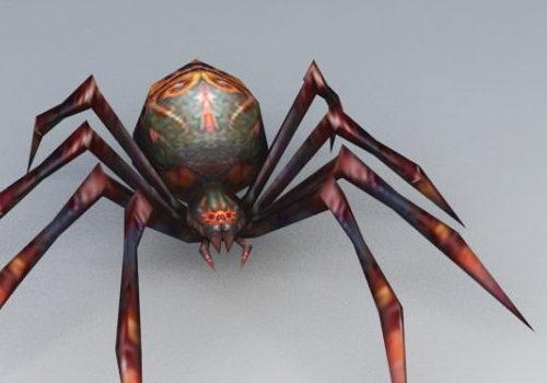 Red Black Spider