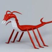 Red Centipede Cartoon