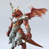 Red Dragon Warrior Character