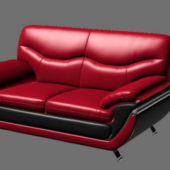 Home Red Leather Loveseat Furniture