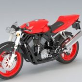 Red Super Motorcycle