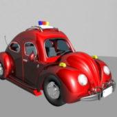 Police Car Cartoon Toy Style