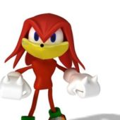 Red Sonic Cartoon Character