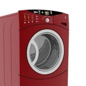 Red Front-load Automatic Washer