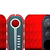 Red Color Electronic Speakers
