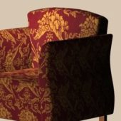 Red Fabric Sofa Chair Furniture
