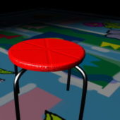 Home Furniture Red Round Stool