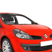 Red Renault Clio Sedan Car
