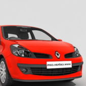 Red Renault Clio Hatchback