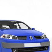 Blue Renault Megane Car
