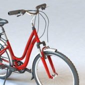Retro Red Lady Bike