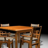 Retro Wooden Kitchen Dinette Sets