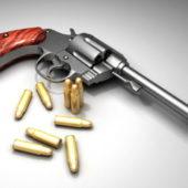 Revolver Gun And Bullets