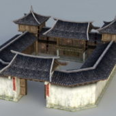 Traditional Building China Courtyard House