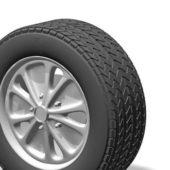 Silver Rims Alloy Wheel