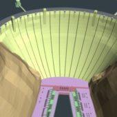 River Dam Building