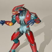 Character Robot Fight Stance