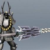 Samurai Robot Concept Character