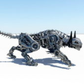 Sci-fi Animal Robot Tiger