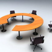 Round Shaped Conference Table