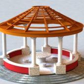 Modern Round Pavilion Structure
