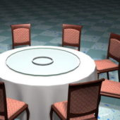 Furniture Round Banquet Table Chairs