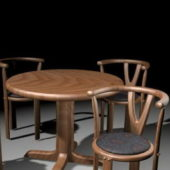 Furniture Round Dining Table Set