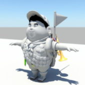 Character Russell From Up Rig