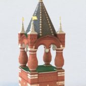 Russia Ancient Red Tower Building