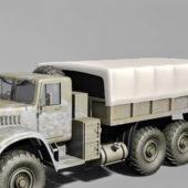 Russian Military Kraz Truck