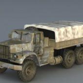 Russian Kraz Truck Vehicle