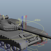 Military Russian T80 Tank Rigged