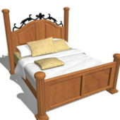 Rustic Furniture Antique Wood Bed