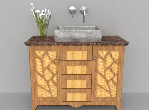 Rustic Decor Bathroom Vanity Cabinet