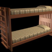 Rustic Woodn Bunk Bed
