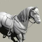 Saddled Horse Animal Rigged