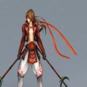 Samurai Warrior Man Character