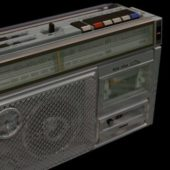 Vintage Sanyo Radio Cassette