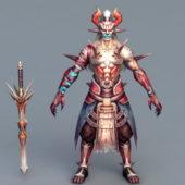 Savage Warrior Game Character