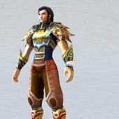 Scale Armor Warrior Character