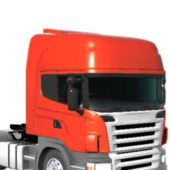 Red Scania Heavy Truck