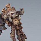 Game Character Scary Skull Monster