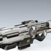 Sci-fi Space Assault Rifle Gun