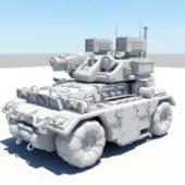 Military Sci-fi Combat Truck
