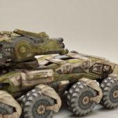 Sci-fi Military Combat Vehicle