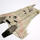 Sci-fi Alien Fighter Aircraft